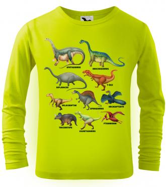 Dětské tričko s dinosaurem