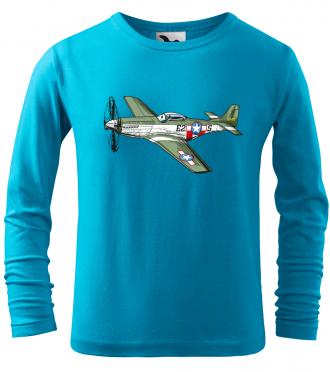 Dětské tričko s letadlem P-51 Mustang