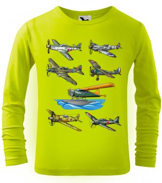 Dětské chlapecké tričko s letadlem