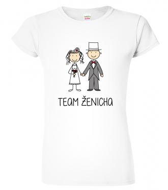 Dámské svatební tričko - Team ženicha (SLEVA)