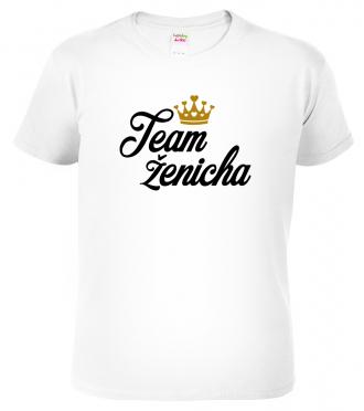 Pánské svatební tričko - Team ženicha (koruna)