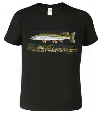 Rybářské tričko - Štika