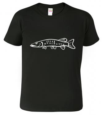 Tričko pro rybáře - Štika