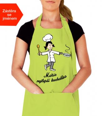 Kuchařská zástěra na vaření se jménem