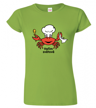 Tričko pro kuchařku - Vařím světově - krab (SLEVA)