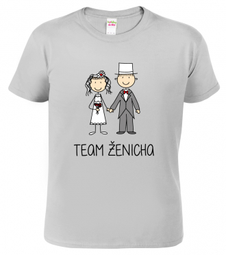 Pánské svatební tričko - Team ženicha (figurka)