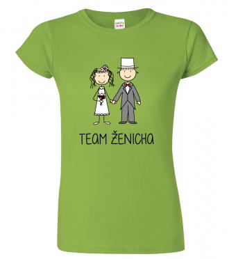 Dámské svatební tričko - Team ženicha (figurka)