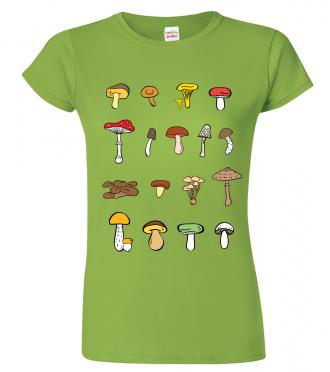 Trička s houbami