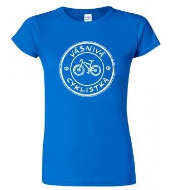 Tričko pro páry - Vášnivá cyklistka