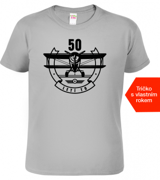 Tričko k narozeninám s letadlem