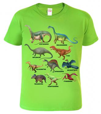 dětské tričko s dinosaurem - Atlas dinosaurů