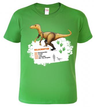 Dětské tričko s dinosaurem - Velociraptor