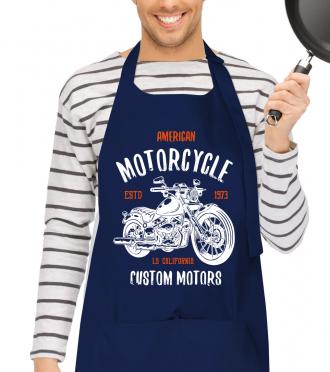 Motorkářská zástěra - originální dárek pro motorkáře