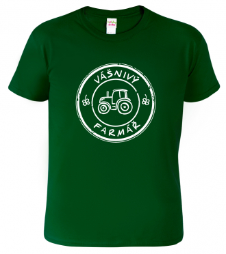 Tričko pro farmáře - Vášnivý farmář (bílý potisk)