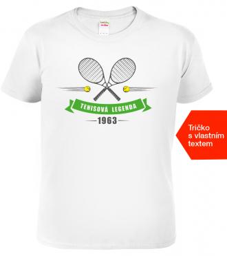 Dárek pro tenistu Tenisová legenda bílé