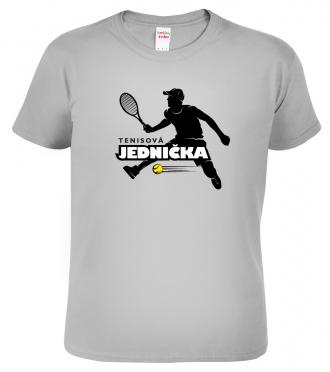 Tenisové tričko Tenisová jednička Sport Grey