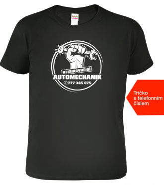 Tričko pro automechanika Nejšikovnější Black