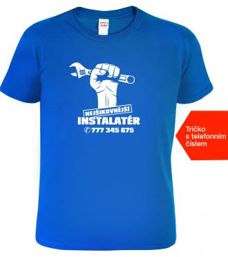 Tričko pro instalatéra + tel. Royal