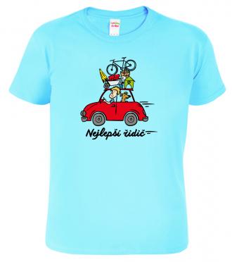 Tričko pro řidiče Nejlepší řidič Light blue