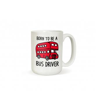 Hrneček pro řidiče autobusu Born to be a bus driver