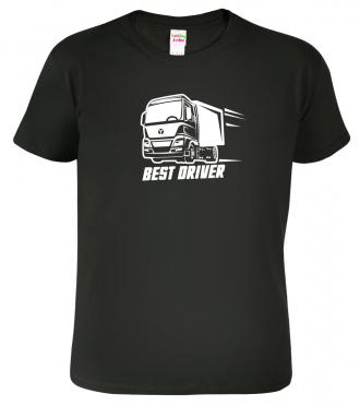 Tričko pro řidiče Best driver Black