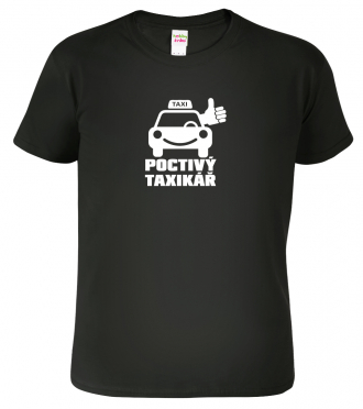 Tričko pro taxikáře Black