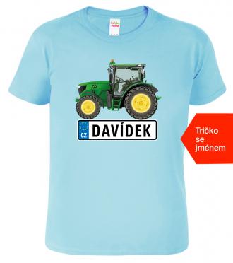 Dětské tričko se jménem - Traktor SPZ