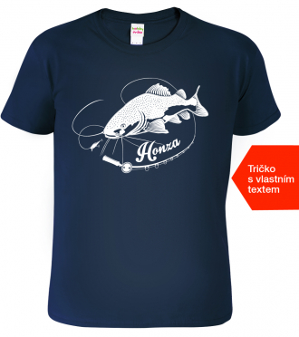 Tričko pro rybáře se jménem Navy