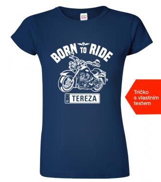 Dámské motorkářské tričko Navy