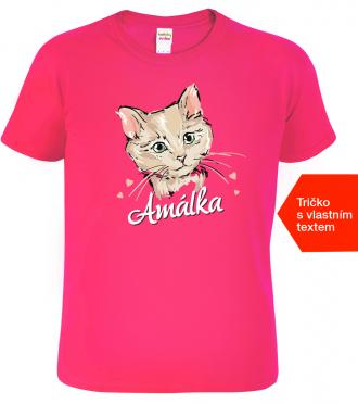 Dětské tričko s kočkou Ruz