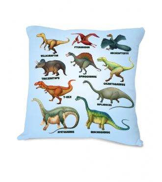 Dětská polštářek s dinosaury