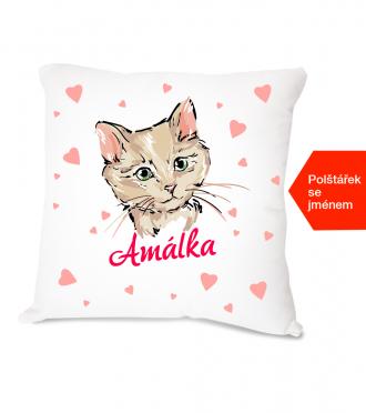 Dětský polštářek s kočkou