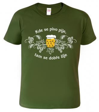 Dárek pro pivaře -  tričko s pivním motivem