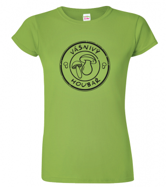 Dámské houbařské tričko - Vášnivý houbař