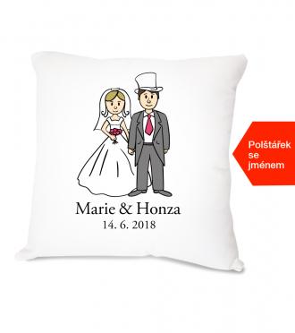 svatební polštářek dar pro novomanžele