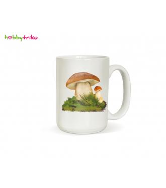 Hrneček s houbou -  dárek pro houbaře