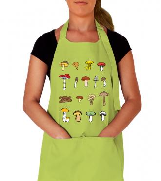 Kuchařská zástěra s houbami