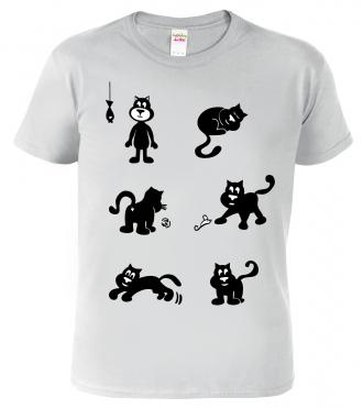 Dětské tričko s kočkami