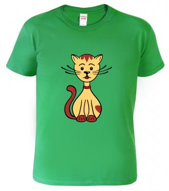 Dětské tričko s kočkou - Sedící kočička