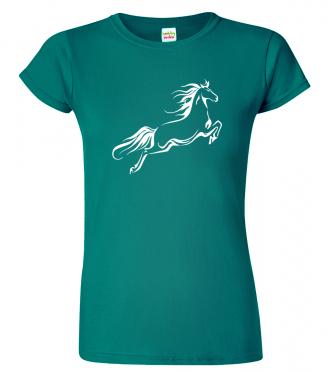 Dámské tričko s koněm - Kůň ve skoku
