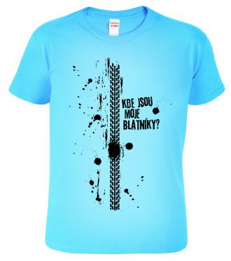Dětské tričko pro cyklistu - Kde jsou moje blatníky? (SLEVA)