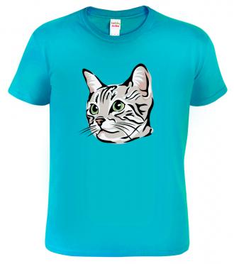Dětské tričko s kočkou - Zelenoočka