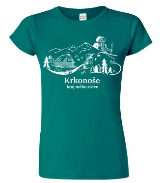 Dámské tričko - Krkonoše