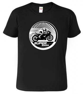 Dětské motorkářské tričko - Super Biker