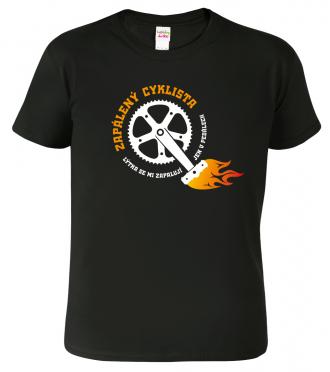 Pánské tričko pro cyklistu - Zapálený cyklista