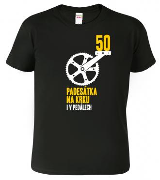 Pánské tričko pro cyklistu - Padesátka na krku