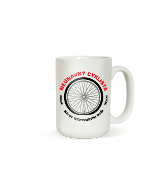 Hrnek pro cyklistu - Našlápnutý cyklista