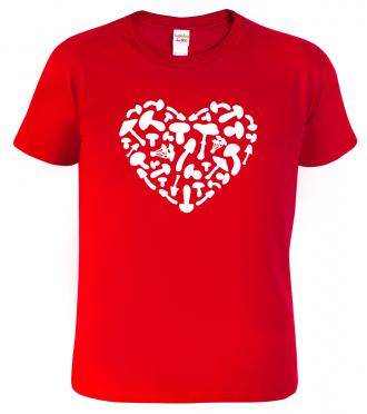 Dětské houbařské tričko - Srdce