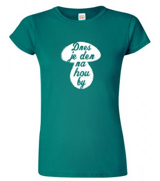 vtipné tričko s houbou