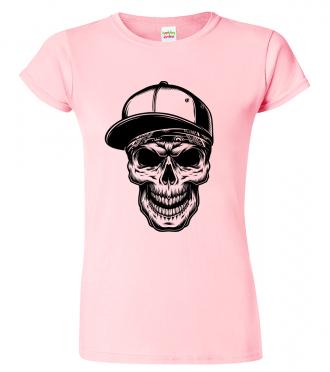 Dámské tričko s lebkou